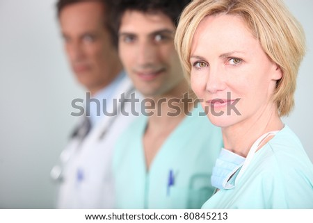 staff in a hospital - stock photo