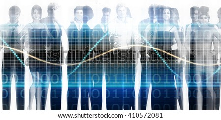 Staff Meeting or Training Session as a Concept 3D Illustration Render - stock photo