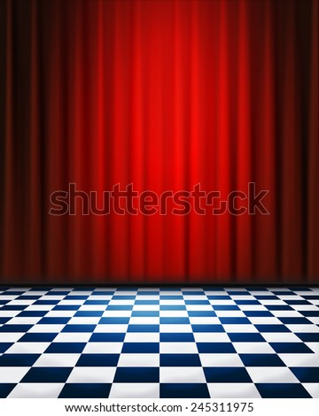 Stage - stock photo