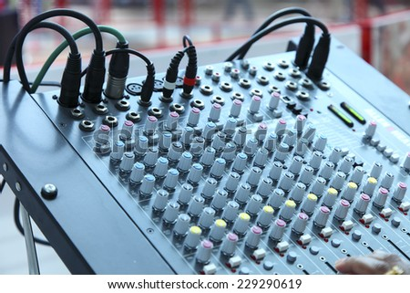 stage control panel - stock photo