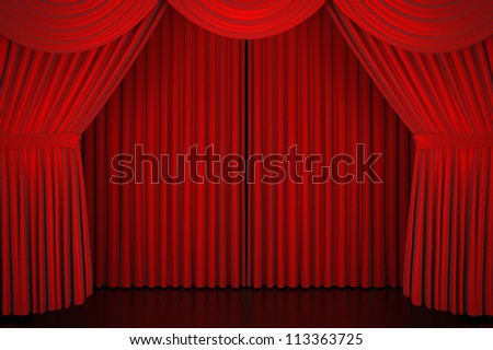 Stage curtain - High quality render - - stock photo