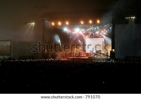 Stage. Duran Duran Live in Buenos aires. December 2005 - stock photo