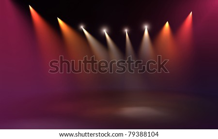 Stage illumination background - stock photo