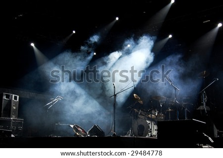 Stage In Lights 1 - stock photo