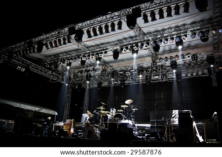 Stage In Lights - stock photo