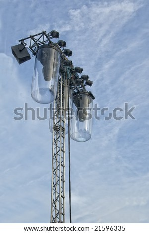 Stage lamps - stock photo