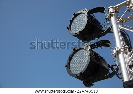 stage lcd - stock photo