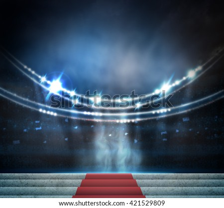 Stage Lighting Background - stock photo