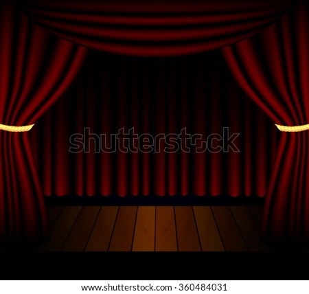 Stage lighting background with spotlight effects