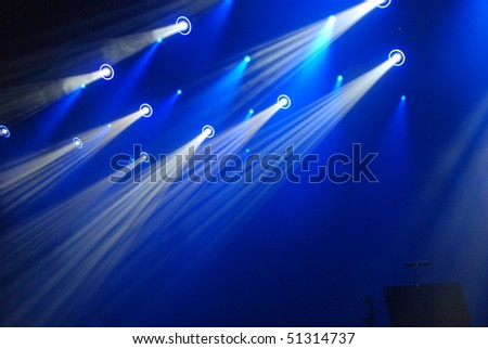 Stage lights - stock photo