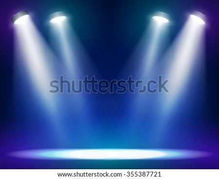 Stage lights background for web and mobile devices - stock photo