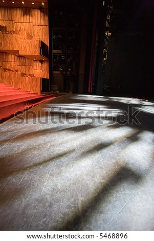 stage lights in an modern theater - stock photo