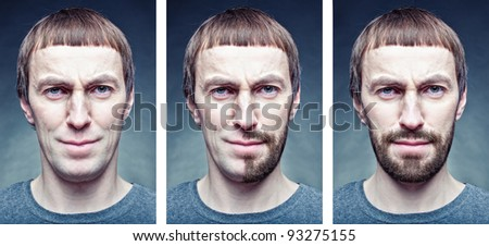 stage shaving the face. photo concept - stock photo