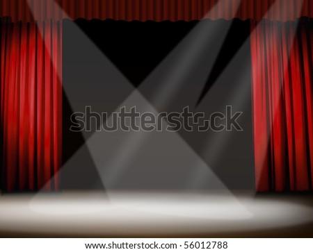 stage spotlight - stock photo