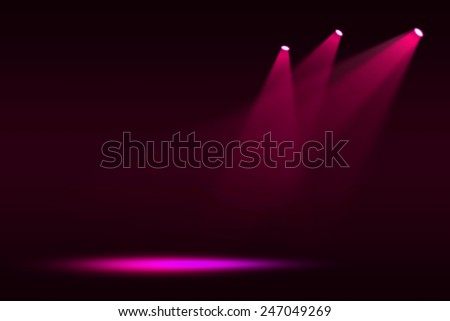 Stage theater on pink background