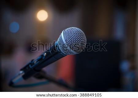 stage, voice, microphone, concert, studio, sound, equipment, broadcast, pop, speech, technology, live, musical, music, alone, old, festival, event, scenario, presentation, object