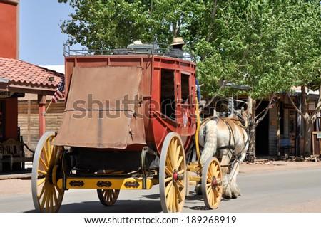 Stagecoach in Tombstone, Arizona - stock photo