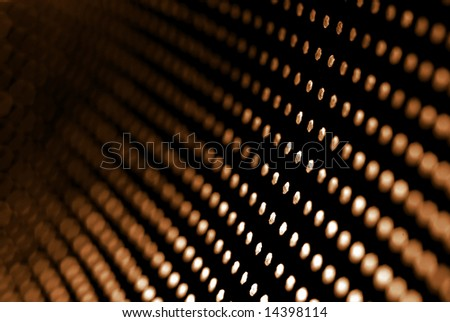 Staged photo to abstract theme