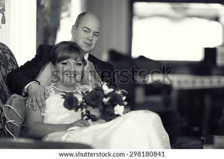 staged wedding photo