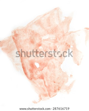 stain of blood on the white - stock photo