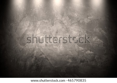 stained concrete wall with spotlight background