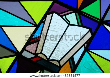 Stained Glass - Bible - stock photo