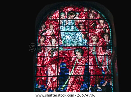 Stained Glass Birmingham cathedral - stock photo
