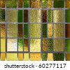 stained glass in an old window - stock photo