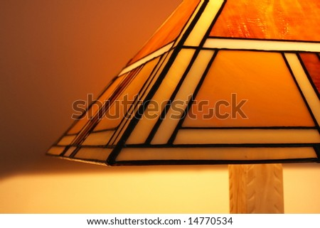 Stained glass lamp - stock photo