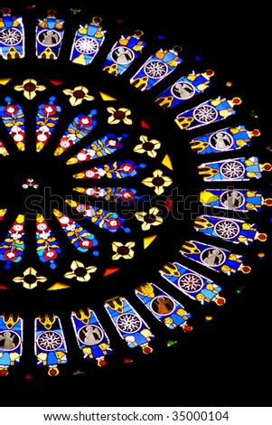 stained glass of church - stock photo