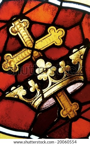stained glass window - stock photo