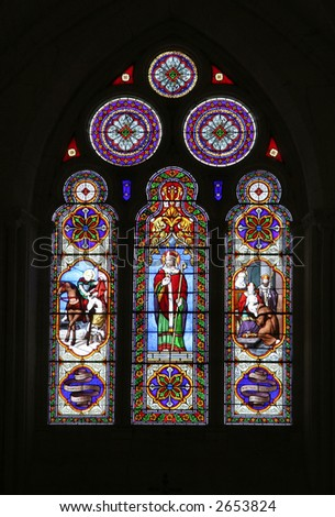 Stained glass window in France