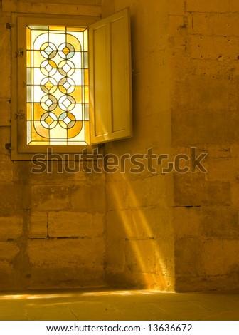 architecture, art, building, church, church window, glass ... |Stone Glass Window