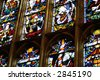 stained glass windows abstract - stock photo