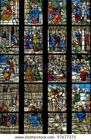 stained glasses - stock photo