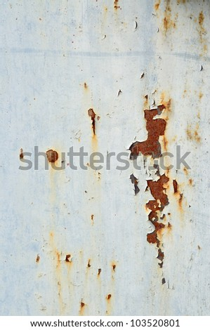Stained metal surface - stock photo