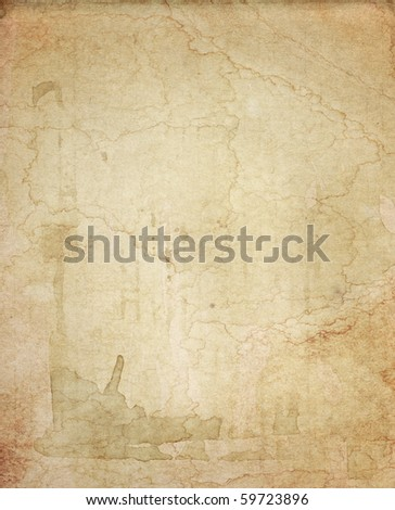 stained old paper texture - stock photo