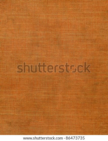 Stained orange binding canvas