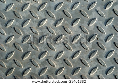 Stainless diamond plate background