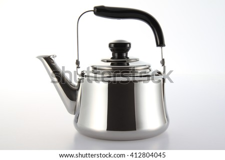 Stainless Kettle  - stock photo