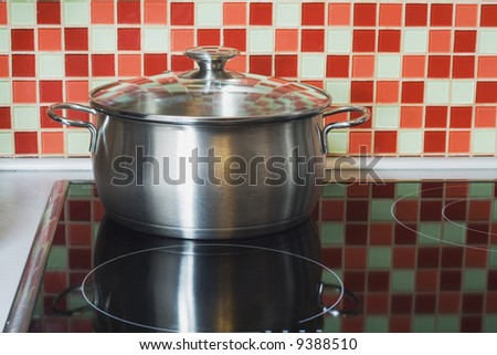 stainless pot on cooker