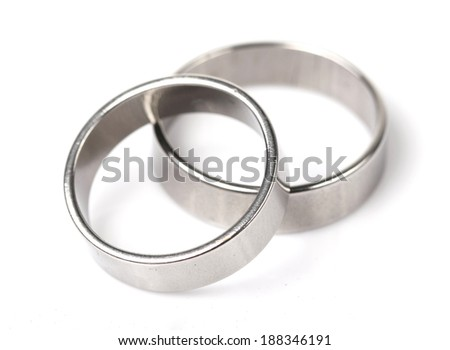 Stainless Rings on White background
