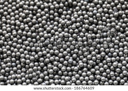 Stainless steel ball bearings - stock photo