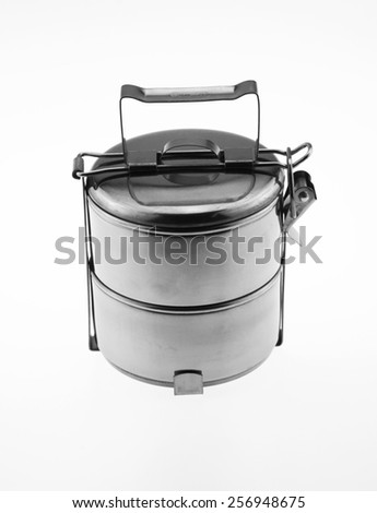Stainless steel bowl - stock photo