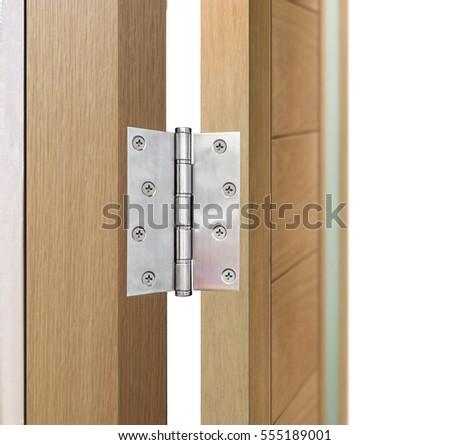 stainless steel door hinges on wood door