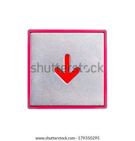 Stainless steel elevator panel push buttons  - stock photo