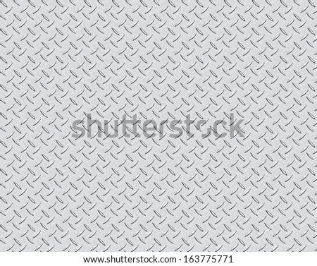 stainless steel floor pattern background - stock photo