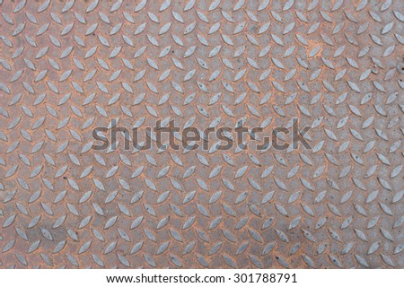 Stainless steel iron plate rust Florals texture background - stock photo
