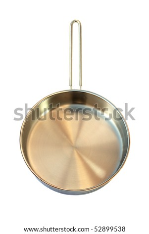 Stainless Steel Pan Isolated - stock photo