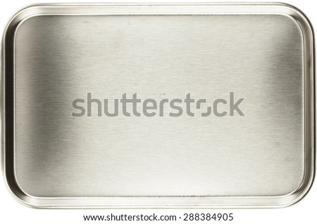 Stainless steel Stomatological tray, Medical tray  - stock photo